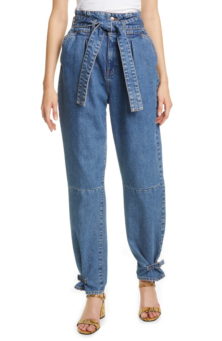 VERONICA BEARD Addie Paperbag Waist Tapered Jeans, Main, color, 400
