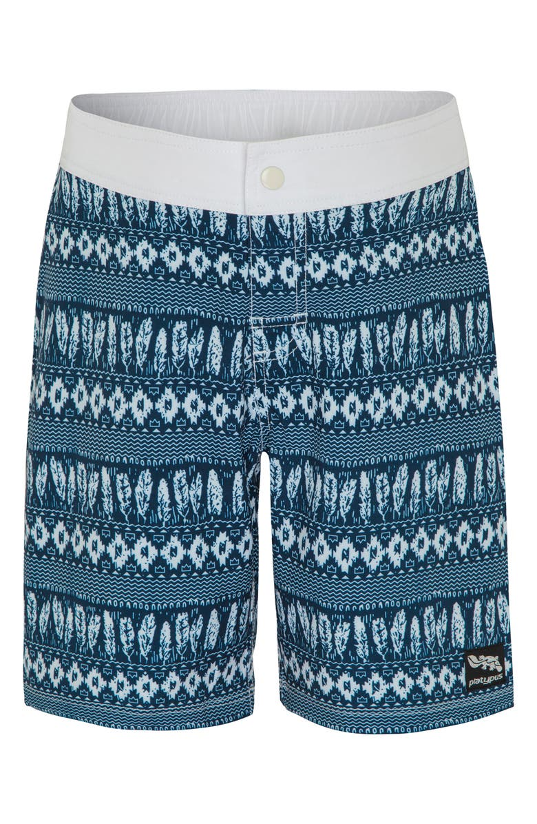 PLATYPUS AUSTRALIA Print Board Shorts, Main, color, RETRO BEACH