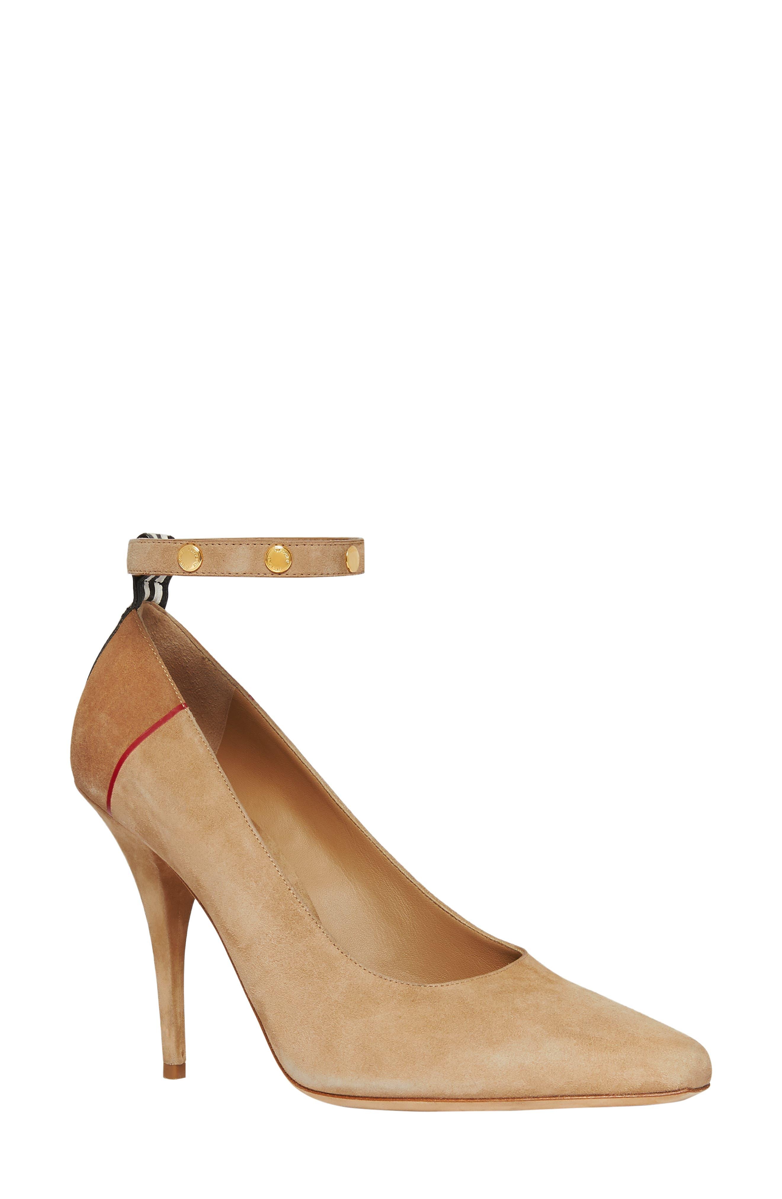 Burberry Kiton Ankle Strap Pump, Brown