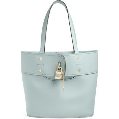 Chloe Aby Small Leather Tote - Blue