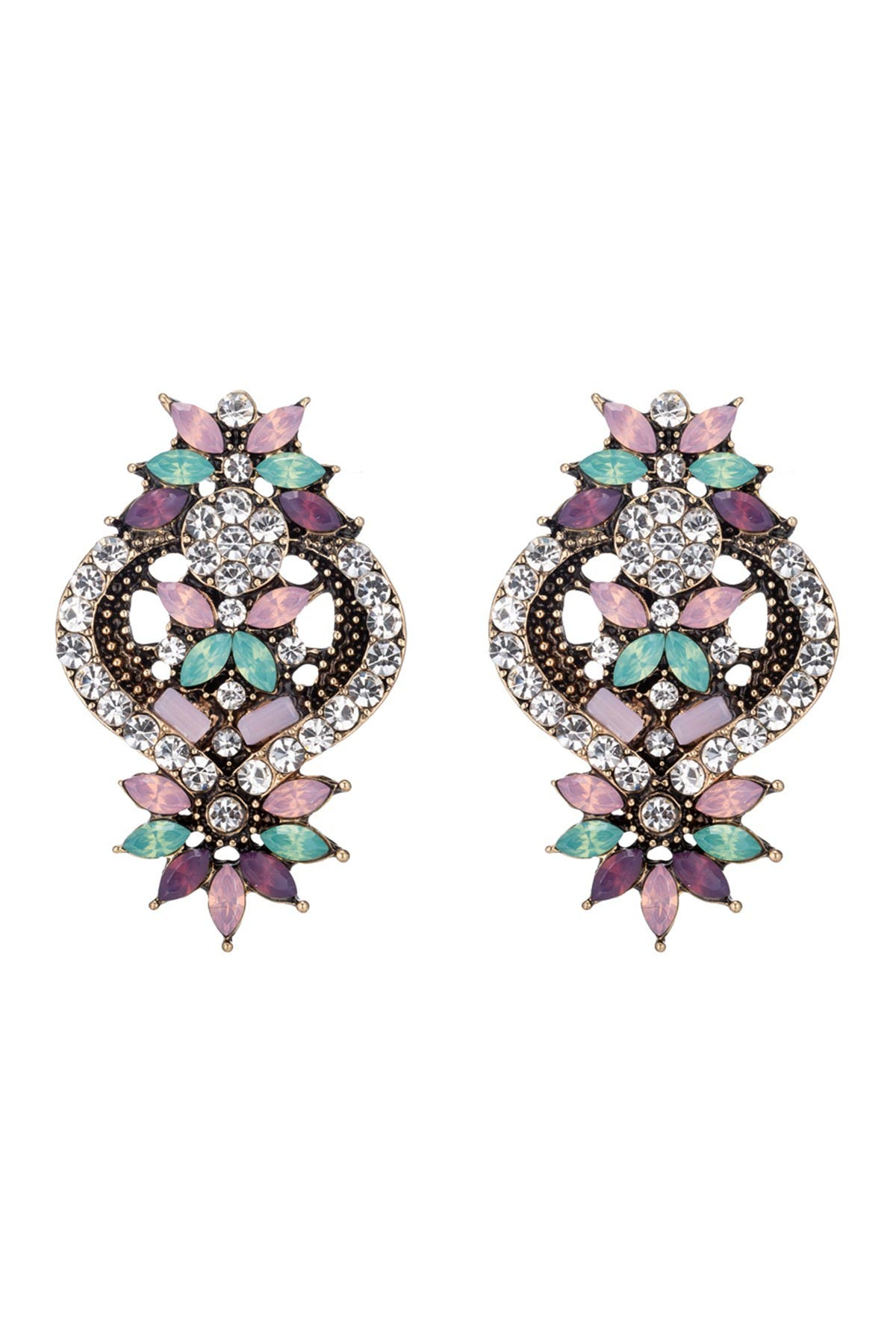 Image of Eye Candy Los Angeles Gabriella Glam Statement Earrings