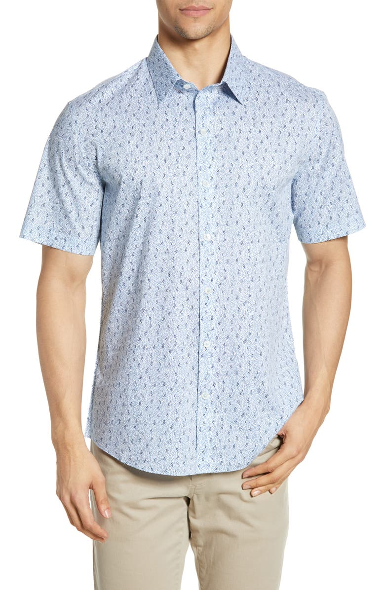 ZACHARY PRELL Lin Regular Fit Shirt, Main, color, 400