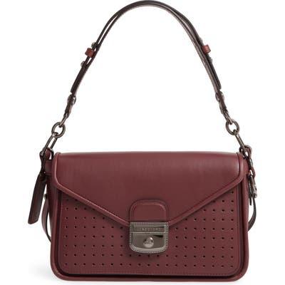 Longchamp Mademoiselle Calfskin Leather Crossbody Bag - Burgundy