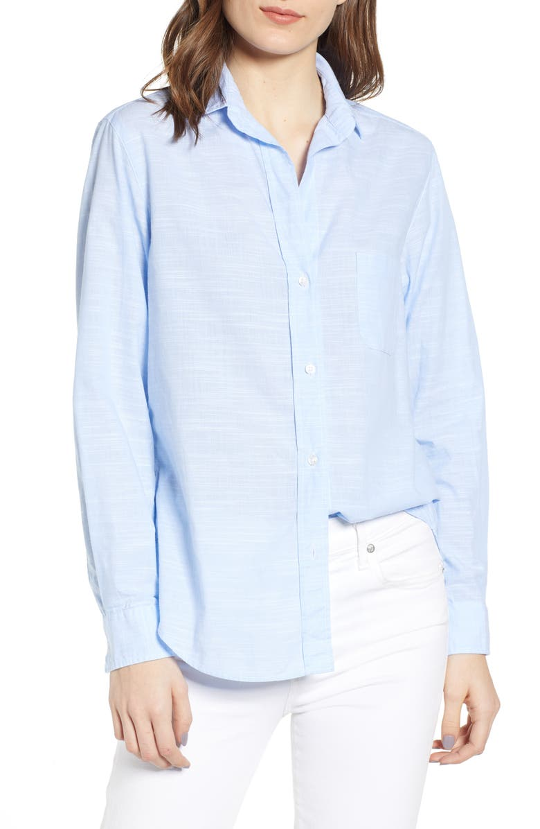 GRAYSON The Hero Washed Cotton Shirt, Main, color, COLETTE FRENCH BLUE