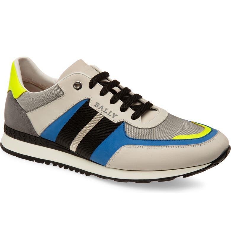 BALLY Aseo Runner Sneaker, Main, color, WHITE