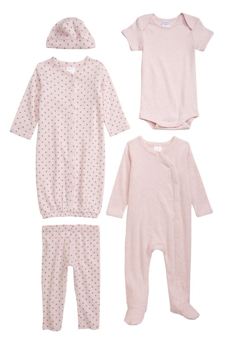 NORDSTROM BABY The Ultimate 5-Piece Set, Main, color, PINK BABY HEATHER