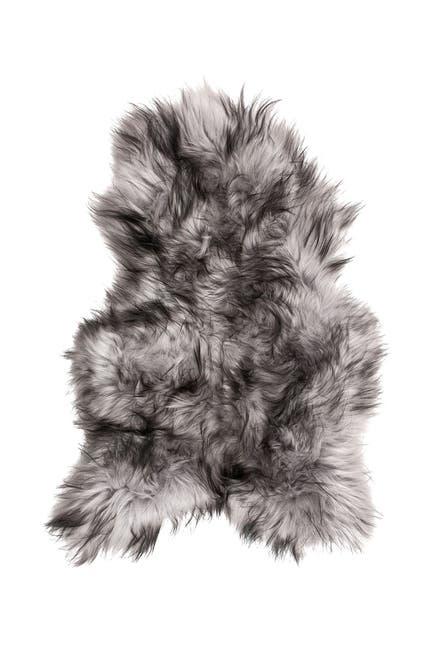 Image of Natural Icelandic Genuine Sheepskin Single Long Haired Rug - Metallic Silver