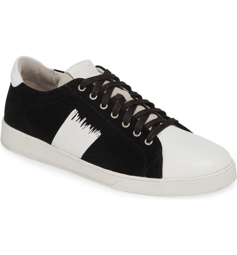 BLACKSTONE Low Top Sneaker, Main, color, BLACK/ WHITE LEATHER