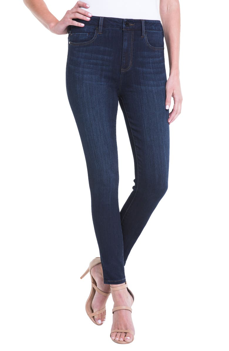 LIVERPOOL Bridget High Waist Ankle Jeans, Main, color, DUNMORE DARK