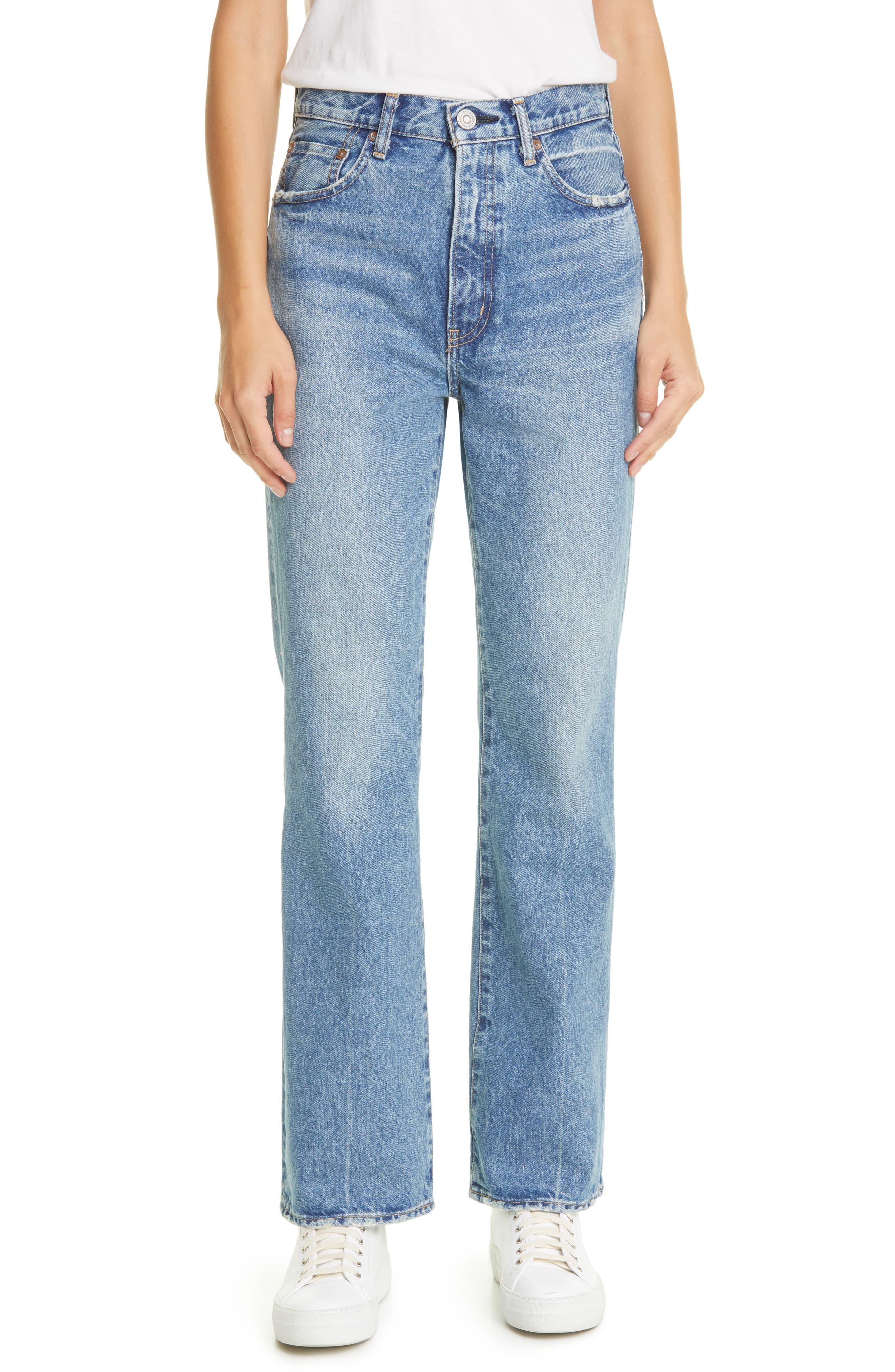 Luna High Waist Ankle Straight Flare Jeans