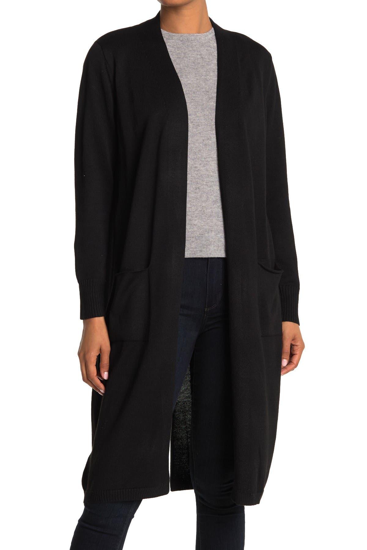Image of Ceny Maxi Back Vent Cardigan Sweater