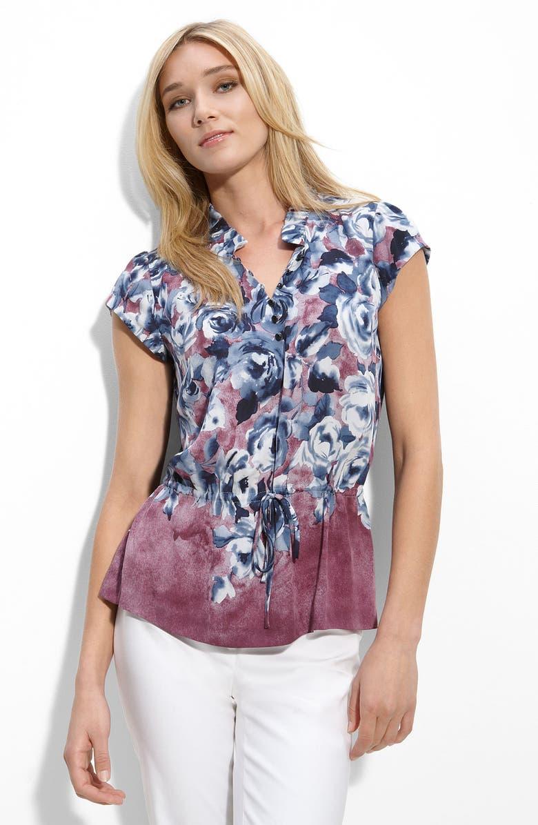 CLASSIQUES ENTIER<SUP>®</SUP> Print Silk Blouse, Main, color, 960