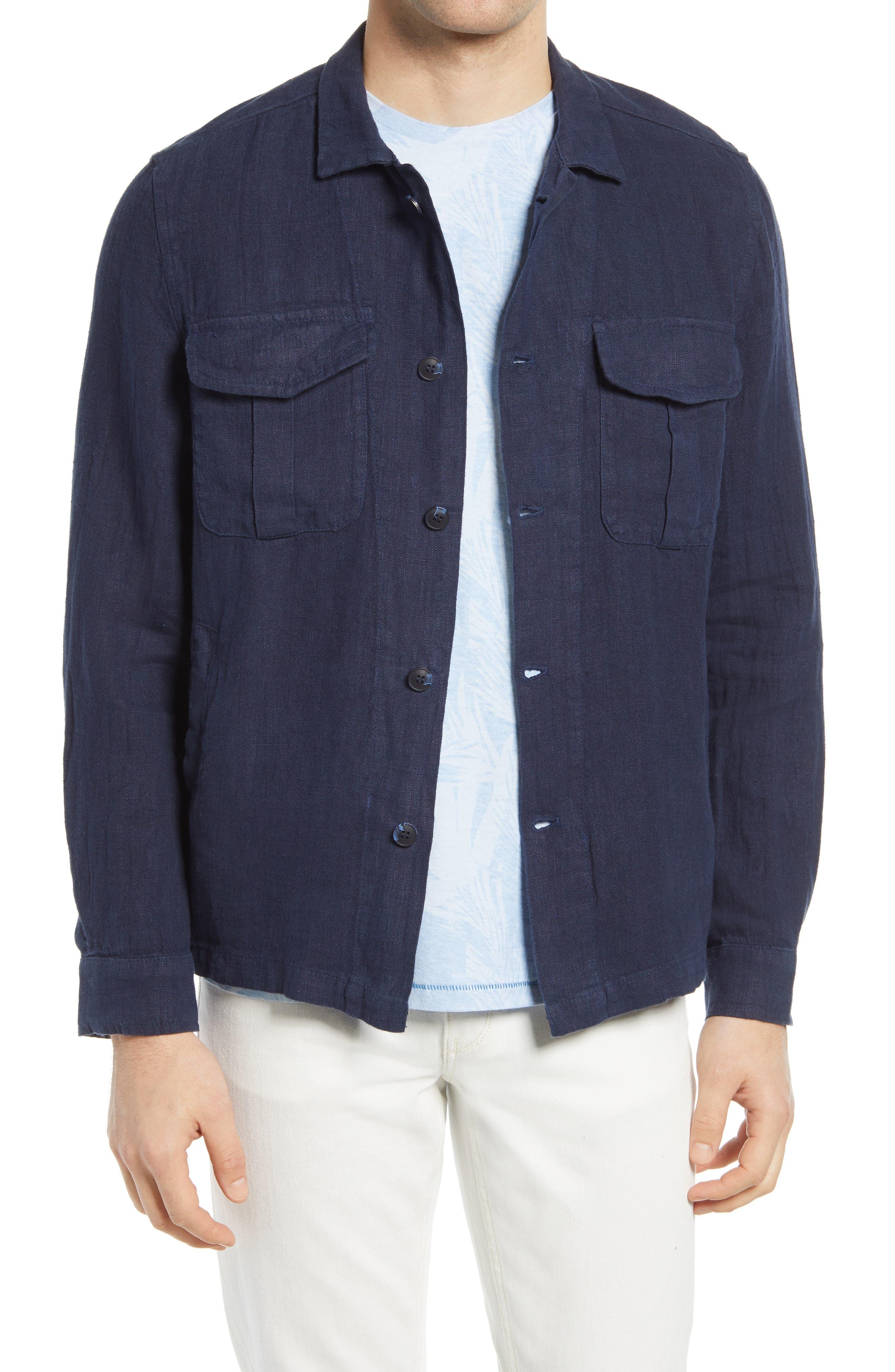 Men's Linen Shirt Jacket