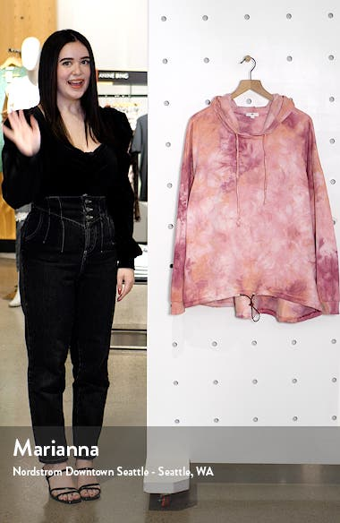 Women's Tie Dye Fleece Hoodie, sales video thumbnail