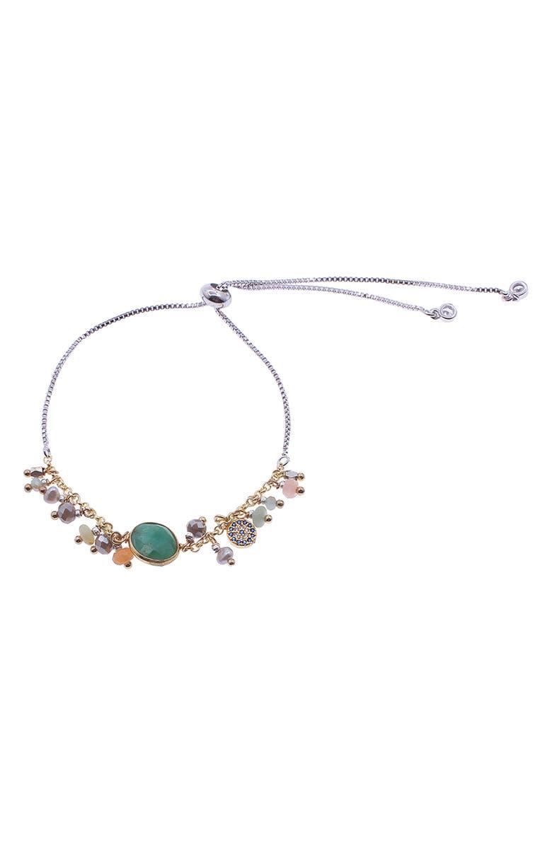 NAKAMOL DESIGN Freshwater Pearl Charm Bracelet, Main, color, 300