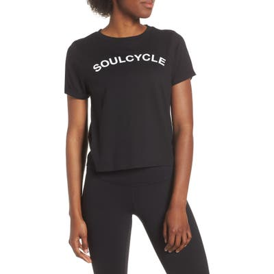 Soul By Soulcycle Core Roll Sleeve Tee, Black