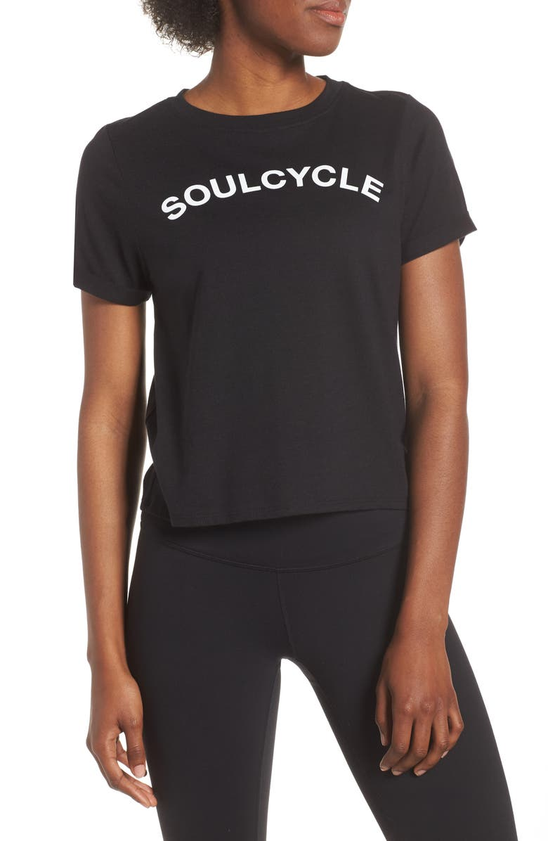 SOUL BY SOULCYCLE Core Roll Sleeve Tee, Main, color, 001