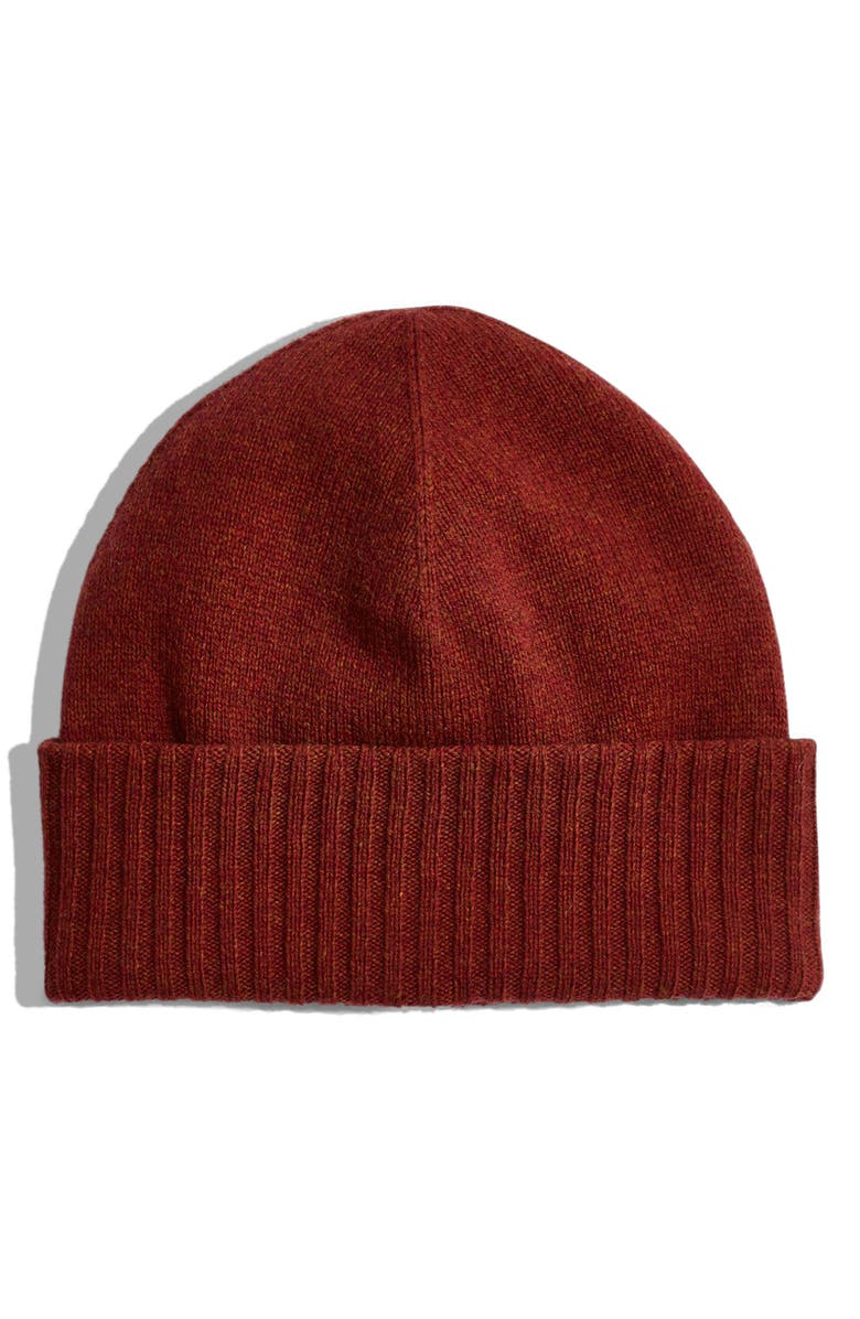 MADEWELL Cuffed Fisherman Beanie, Main, color, MAPLE SYRUP MULTI
