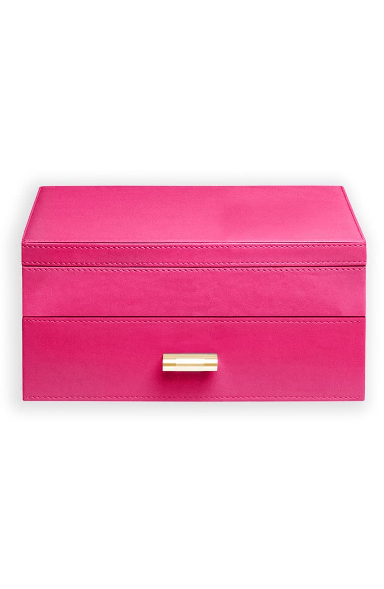 SPRUCE STORAGE Medium Jewelry Box, Main, color, FUCHSIA / ORANGE