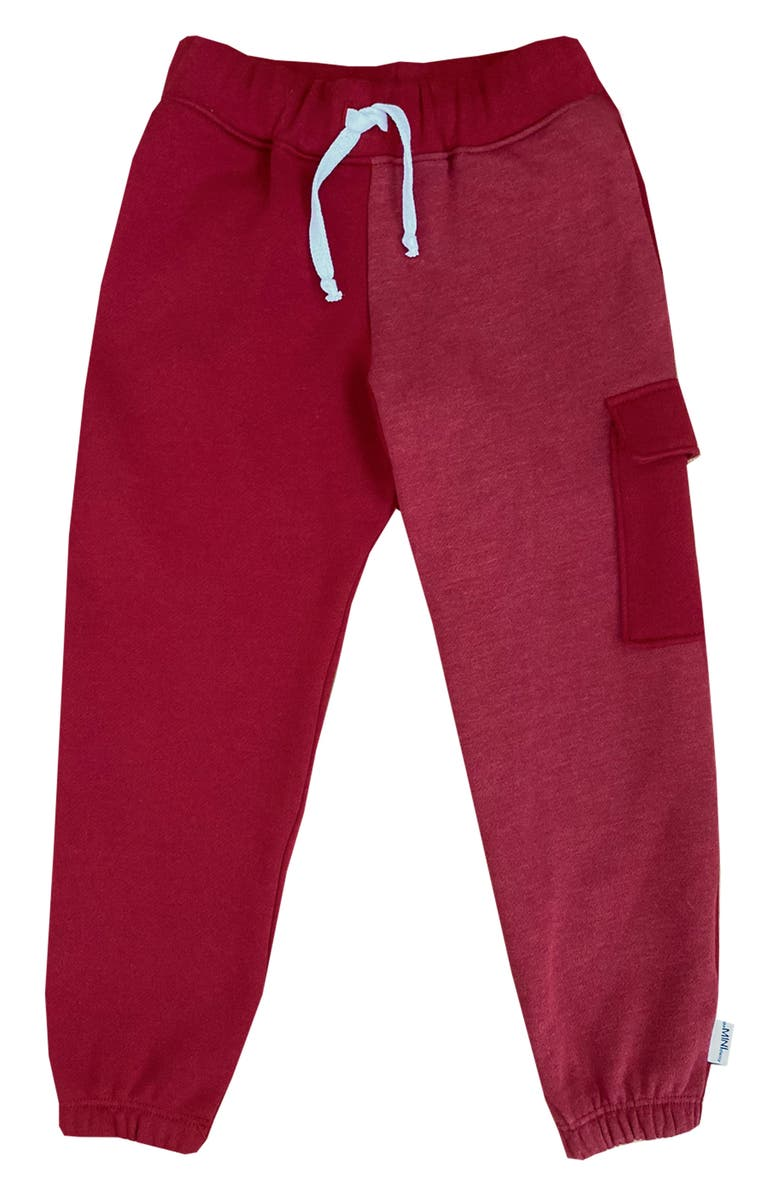 THEMINICLASSY Colorblock Jogger Pants, Main, color, RED