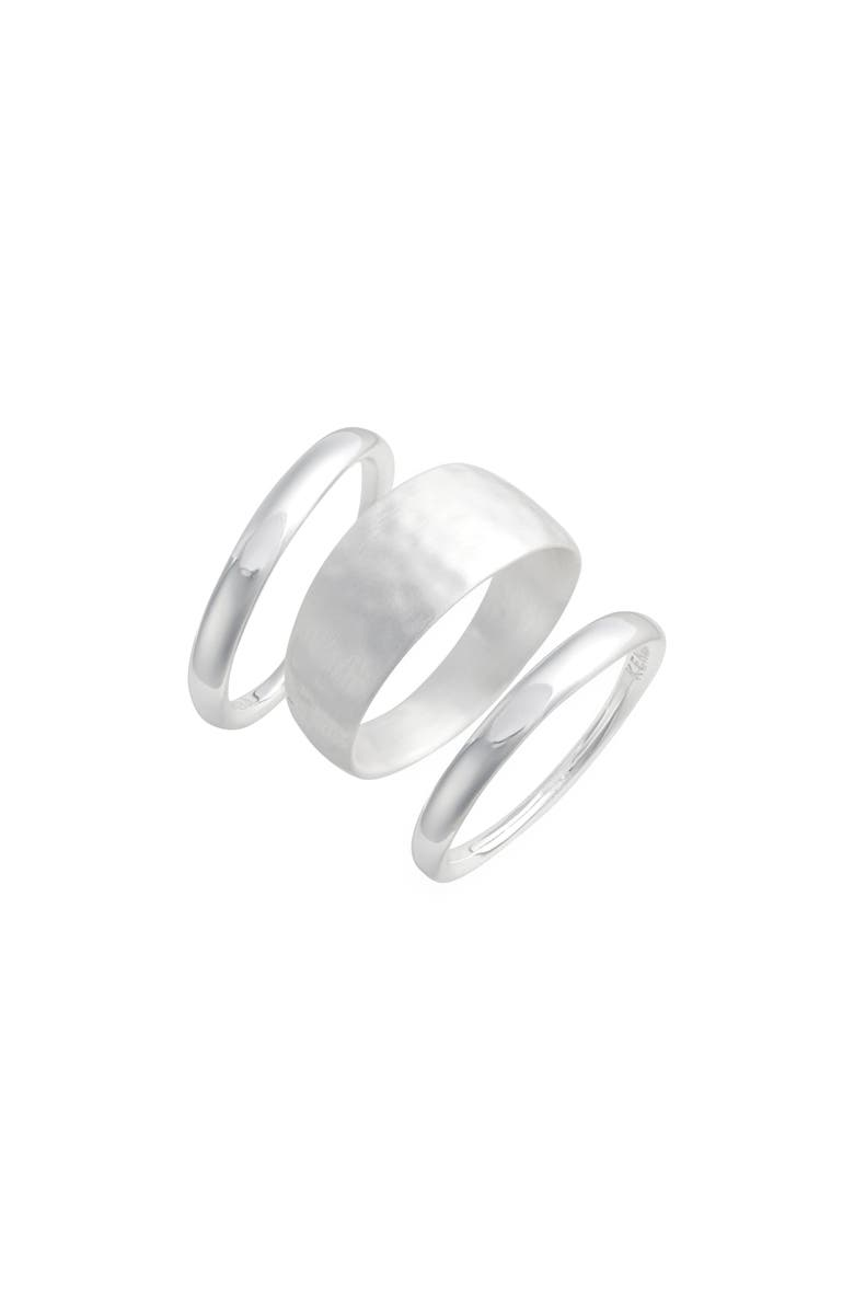 KENDRA SCOTT Terra Set of 3 Rings, Main, color, BRIGHT SILVER