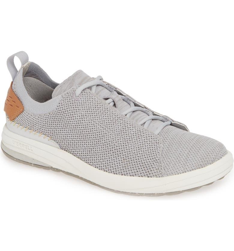 MERRELL Gridway Sneaker, Main, color, GLACIER GREY FABRIC