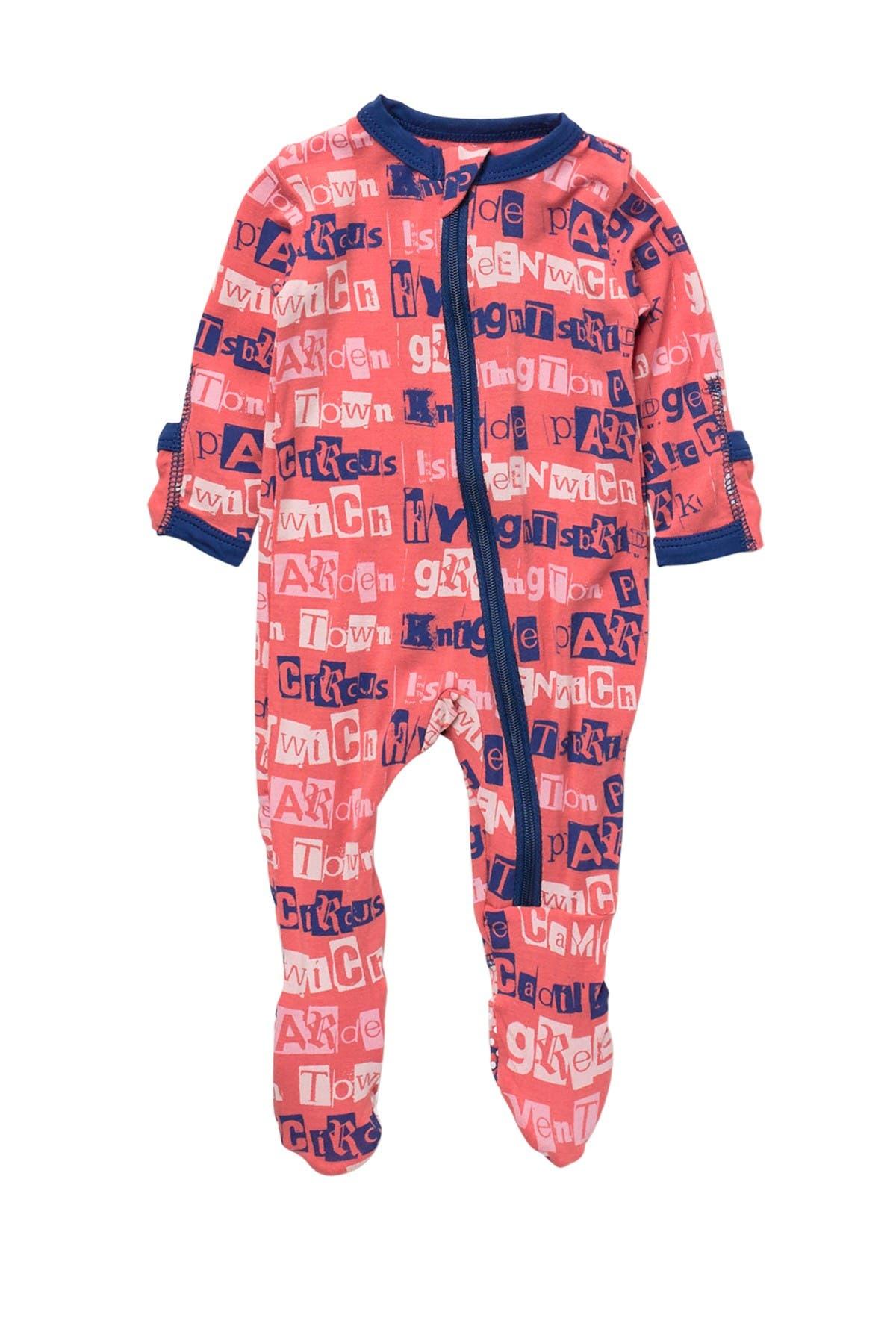 Image of KicKee Pants Printed Footie With Zip