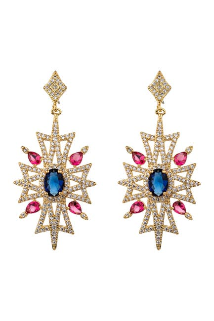 Image of Eye Candy Los Angeles Tandice Cubic Zirconia Crystal Earrings