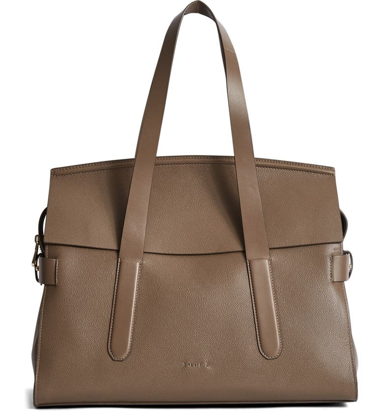 REISS Chancery Leather Satchel, Main, color, 020