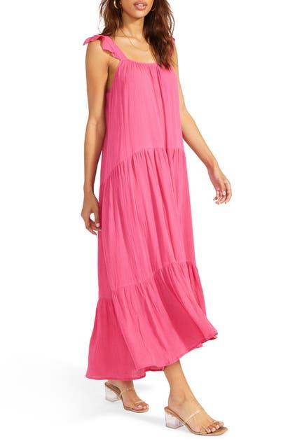 Bb Dakota Under The Sun Midi Dress In Raspberry