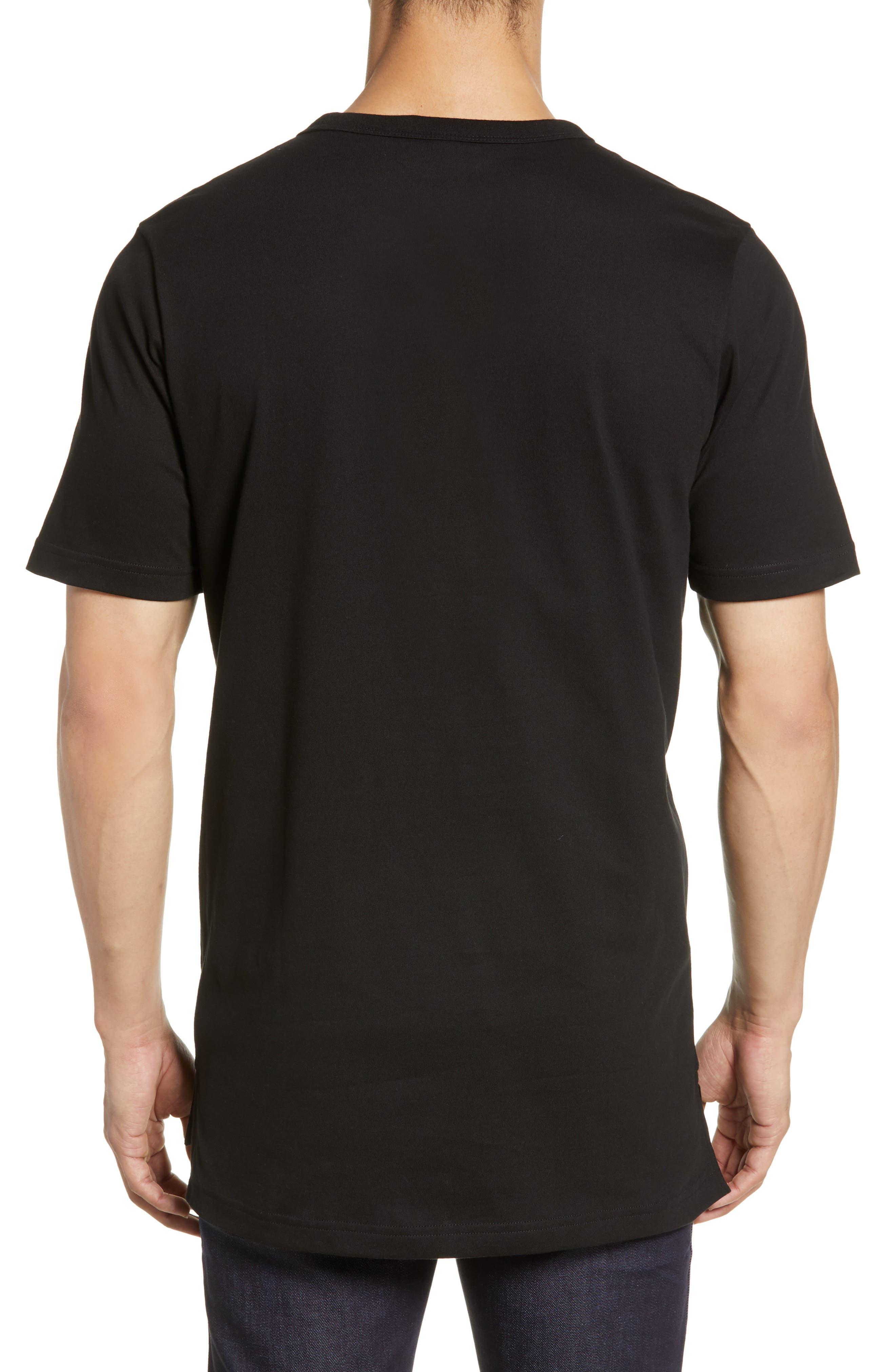 ,                             Premium Transfer Logo T-Shirt,                             Alternate thumbnail 2, color,                             BLACK