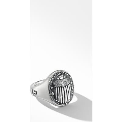 David Yurman Petrvs Scarab Signet Ring