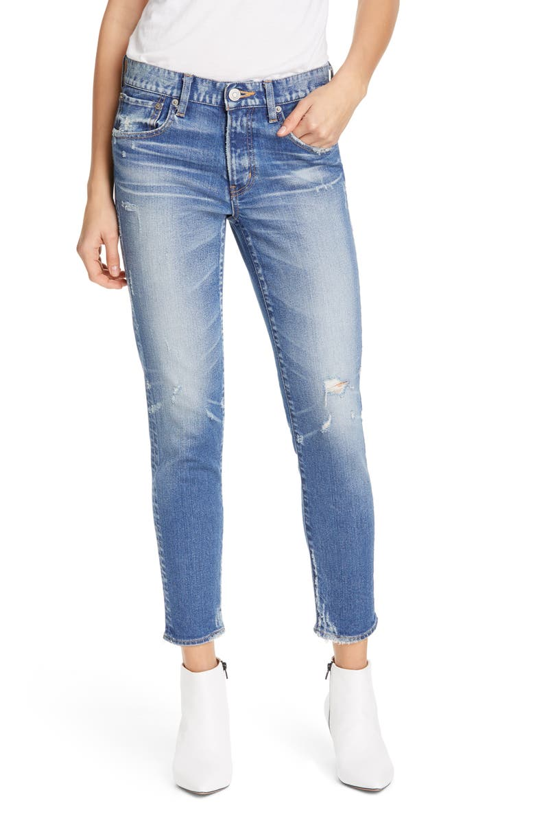 MOUSSY VINTAGE Velma Ankle Skinny Jeans, Main, color, BLUE