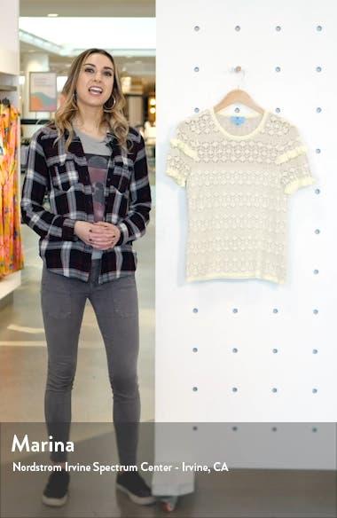 Ruffle Detail Pointelle Short Sleeve Sweater, sales video thumbnail