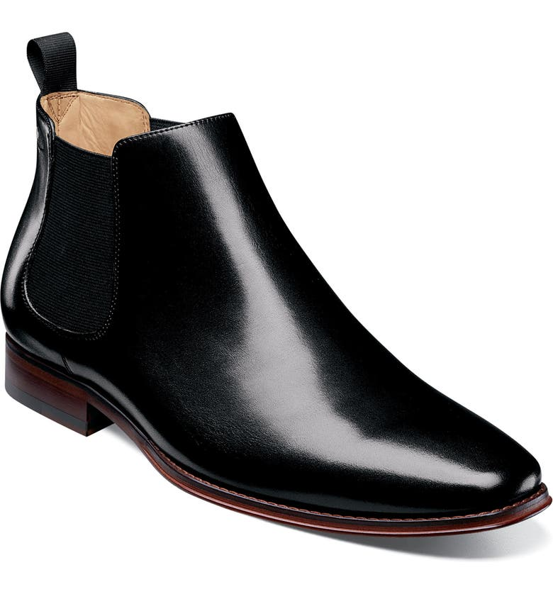 FLORSHEIM Imperial Palermo Chelsea Boot, Main, color, BLACK LEATHER