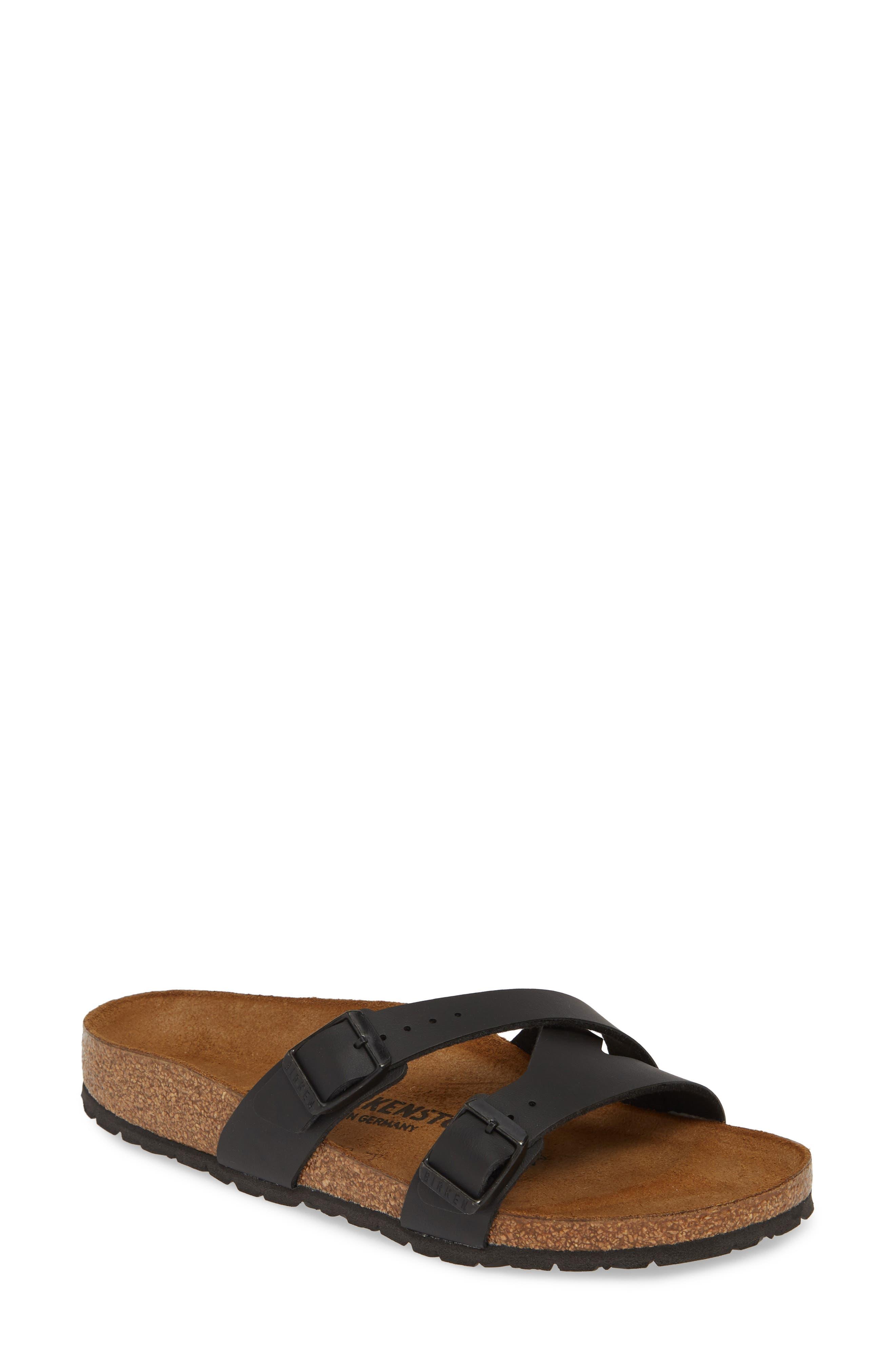 Birkenstock Yao Slide Sandal,8.5 B - Black