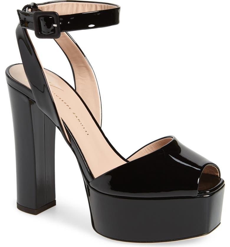 GIUSEPPE ZANOTTI Lavinia Platform Sandal, Main, color, 001
