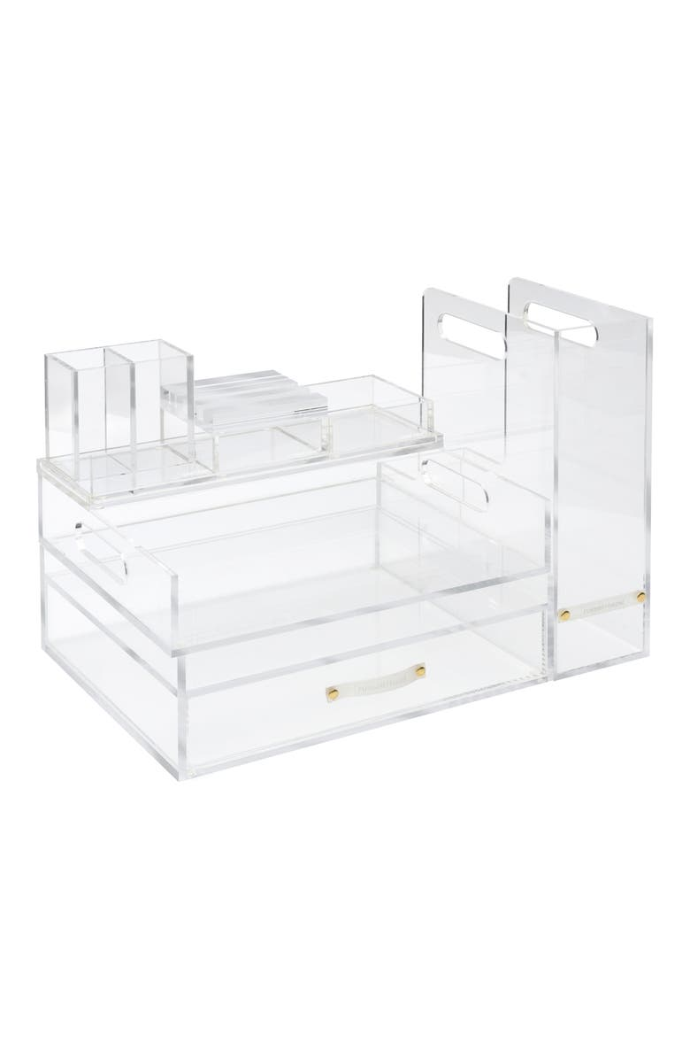 RUSSELL + HAZEL Signature Solution Desk Set, Main, color, CLEAR