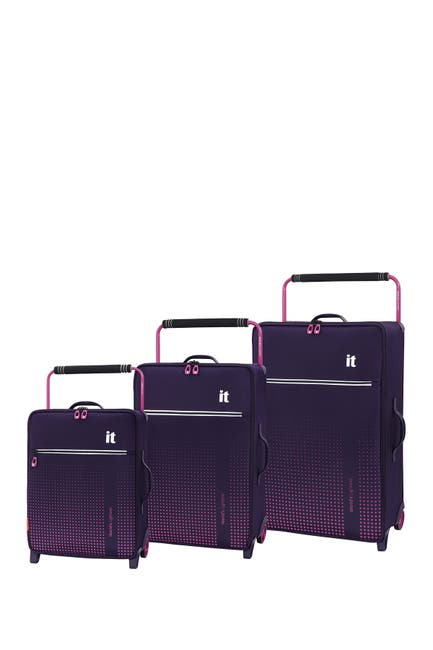 Image of it luggage World's Lightest Vitalize 2 Wheel 3-Piece Luggage Set