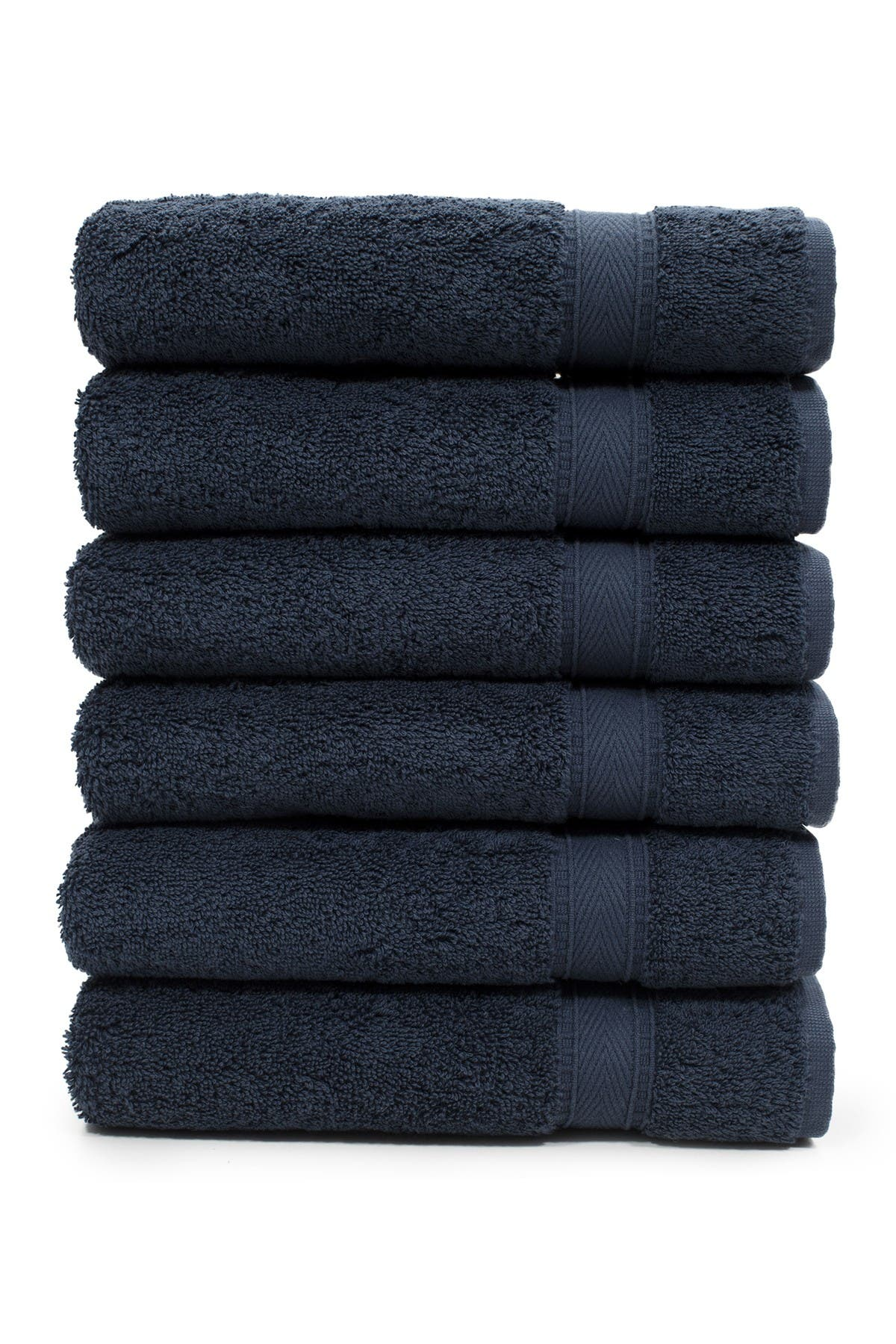 Image of LINUM HOME Sinemis Terry Hand Towels - Set of 6 - Navy