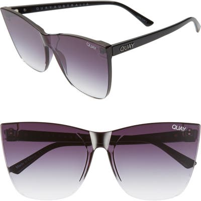 Quay Australia Come Thru 5m Gradient Cat Eye Sunglasses - Black/ Fade