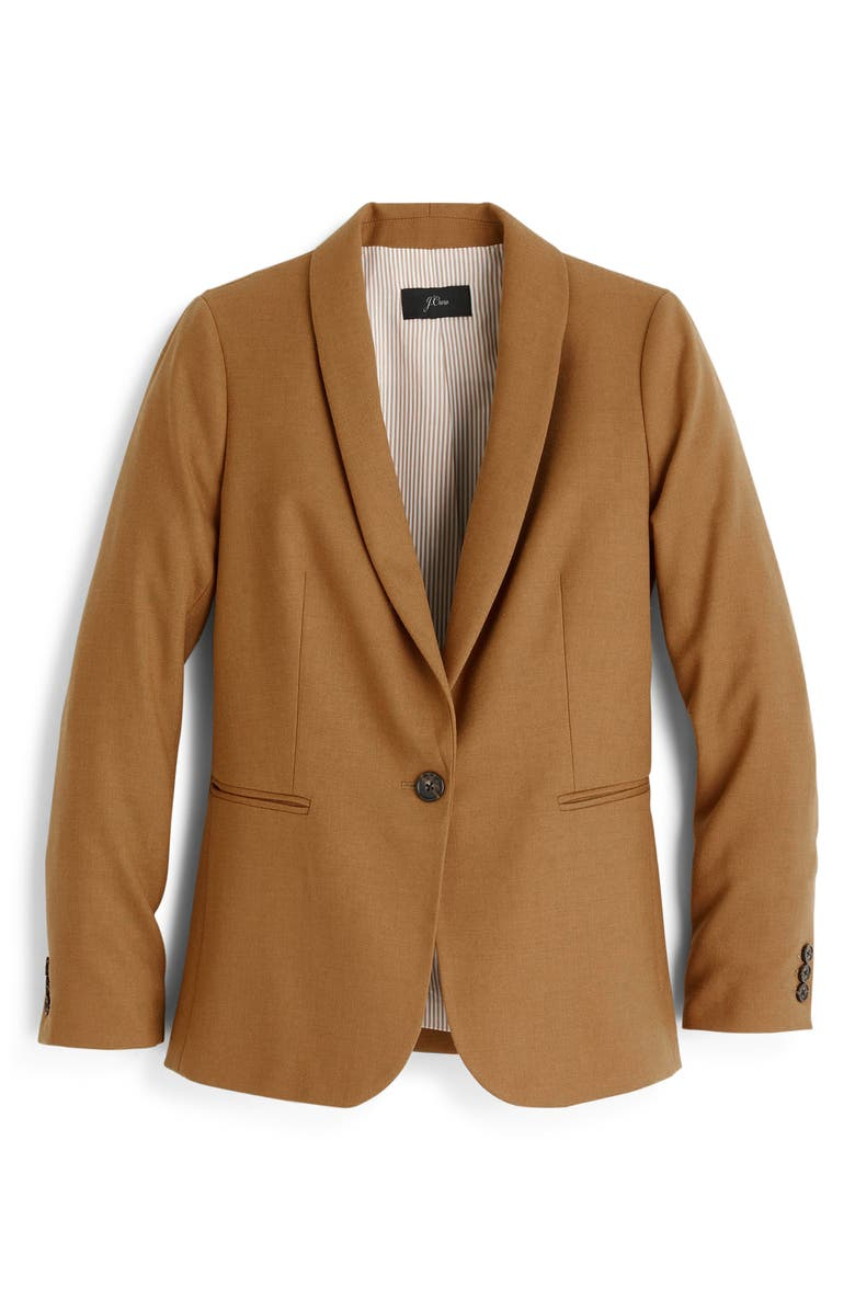 J.CREW Parke Blazer, Main, color, HEATHER CARAMEL