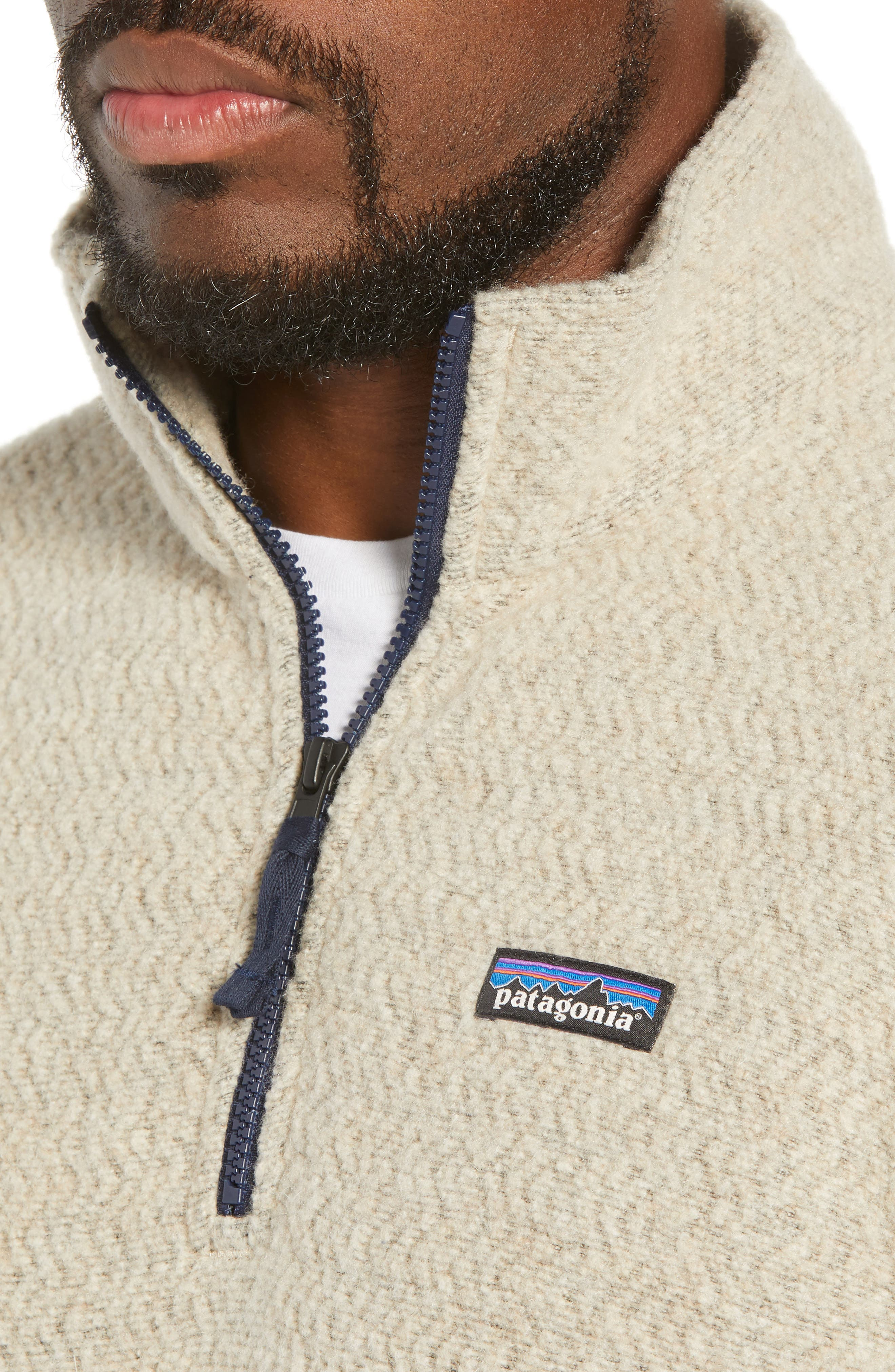 ,                             Woolyester Fleece Quarter Zip Pullover,                             Alternate thumbnail 4, color,                             OATMEAL HEATHER