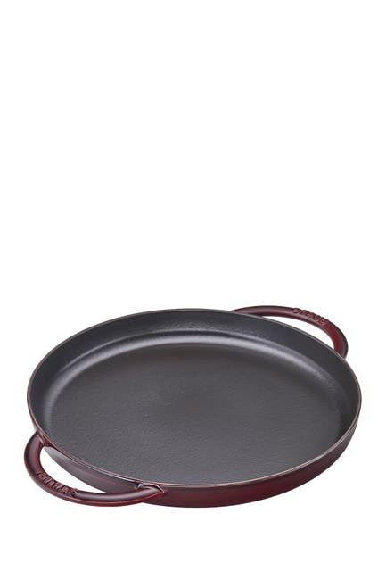 "Image of Staub Cast Iron 12"" Round Griddle Pan - Grenadine"
