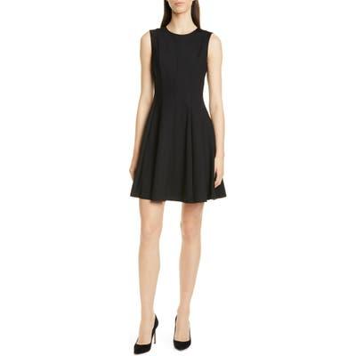 Theory Sleeveless Fit & Flare Dress, Black