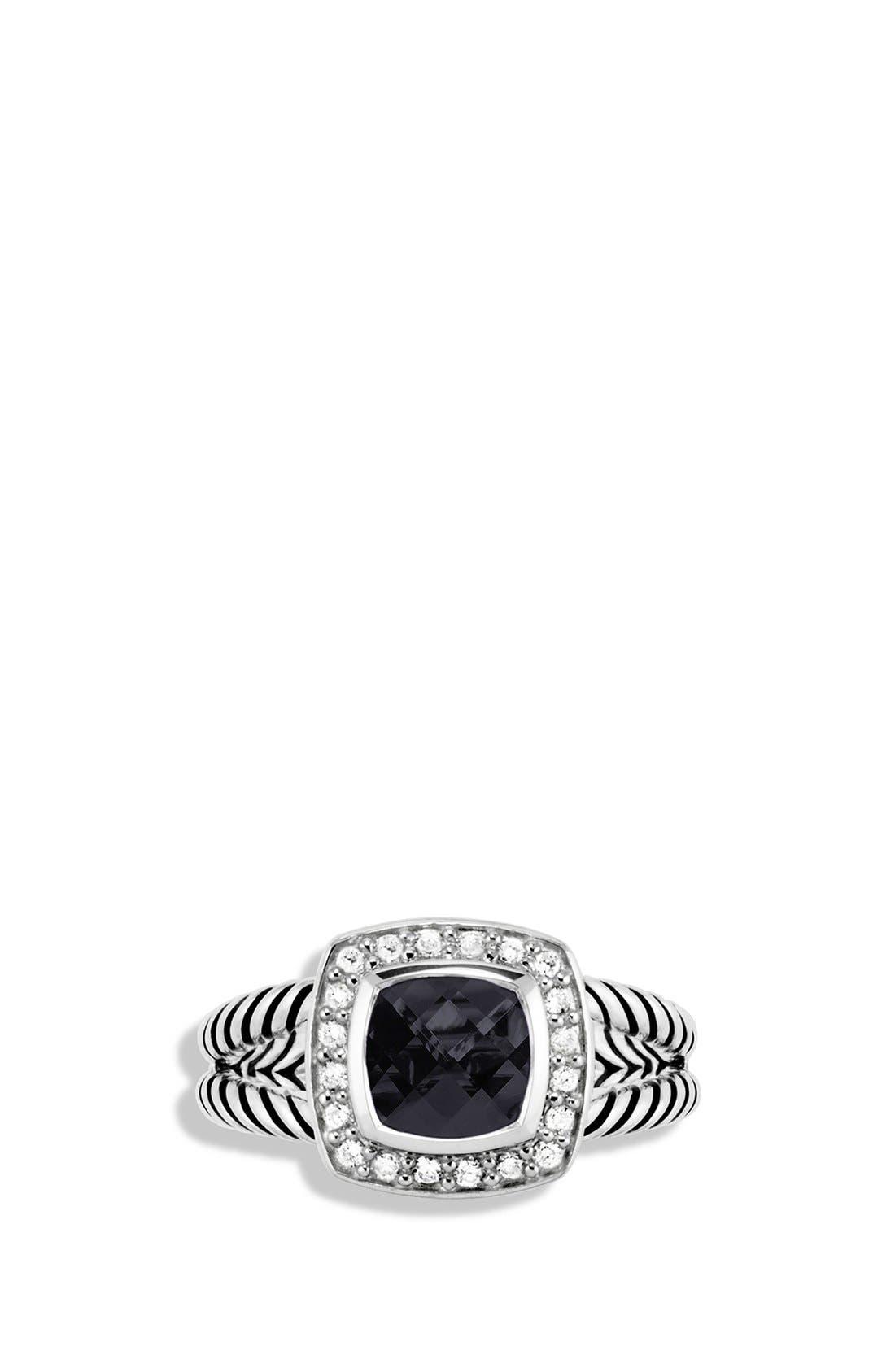,                             'Albion' Petite Ring with Semiprecious Stone & Diamonds,                             Alternate thumbnail 4, color,                             BLACK ONYX