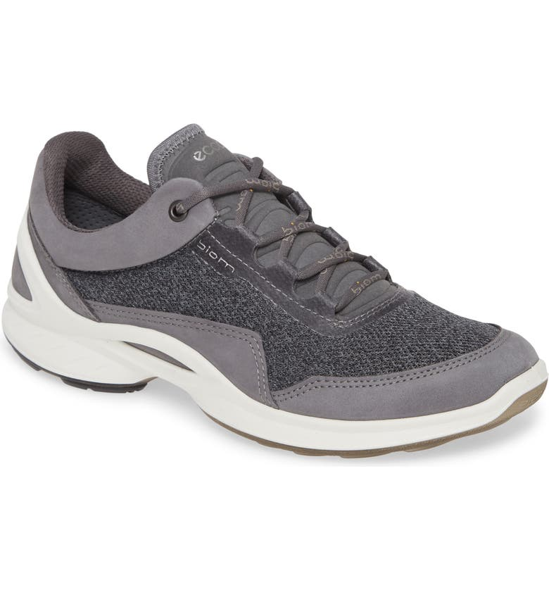 ECCO BIOM Fjuel Sneaker, Main, color, TITANIUM NUBUCK LEATHER