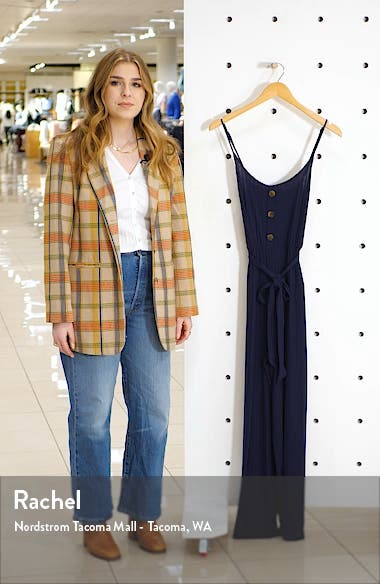 Journey Rib Knit Belted Jumpsuit, sales video thumbnail