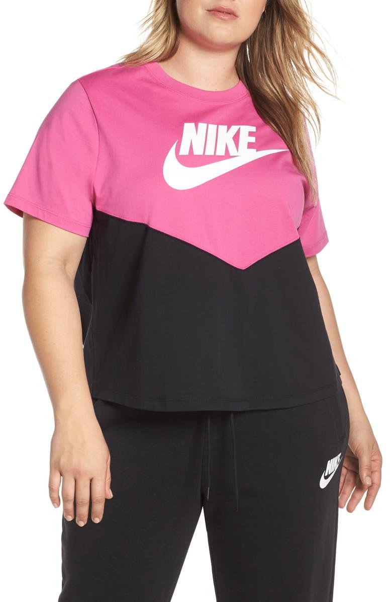 NIKE Sportswear Chevron Colorblock Tee, Main, color, 011
