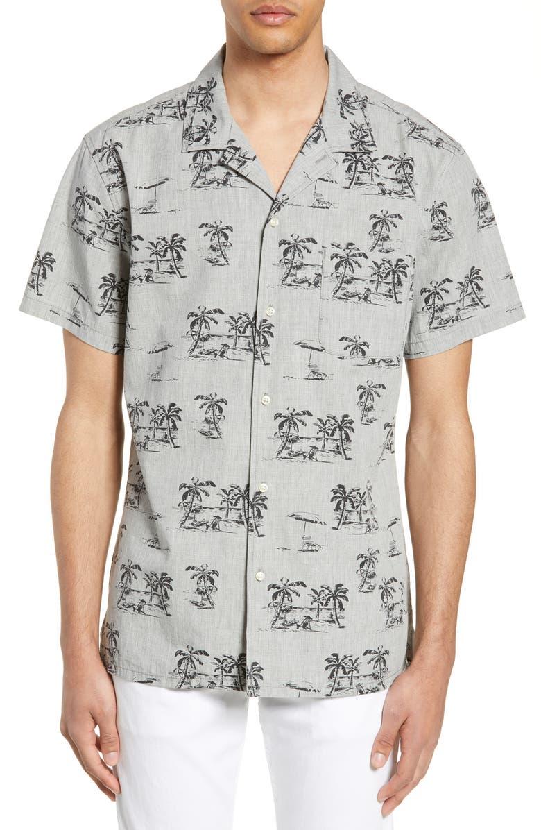 LIFE/AFTER/DENIM Byron Bay Regular Fit Print Shirt, Main, color, 050